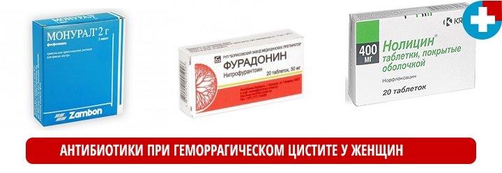 Антибиотики при геморрагическом цистите