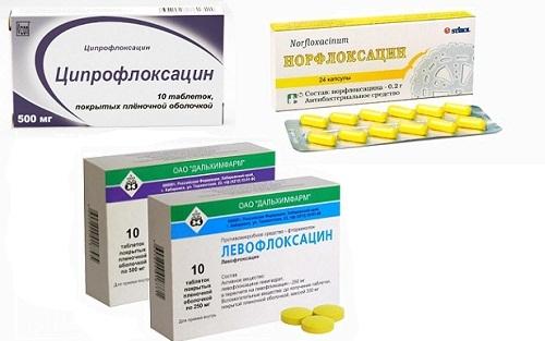 Ципрофлоксацин. Норфлоксацин. Левофлоксацин