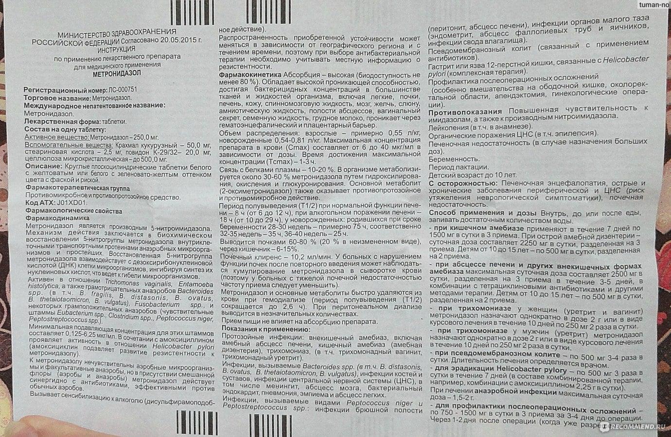 Лечение цистита «Метронидазолом»